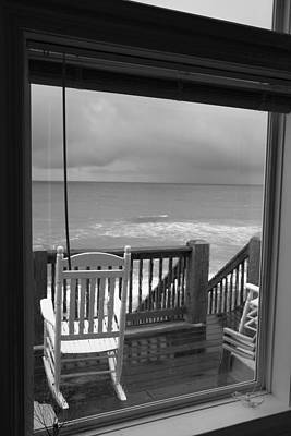 Rocking Chairs Photograph - Storm-rocked Beach Chairs by Betsy Knapp
