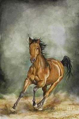 Wild Horse Painting - Storm Runner by Nonie Wideman