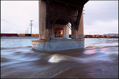 Storm Water Under The Sixth Street Bridge In La Art Print by Kevin  Break