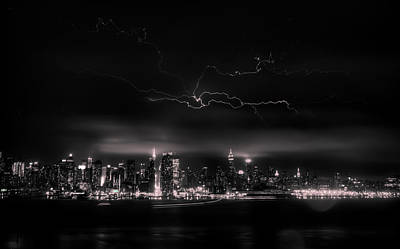 Storming Into The Night Art Print by David Hahn