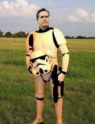 Stormtrooper Mitt Romney Art Print by Paul Van Scott