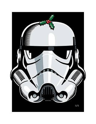 Grunts Digital Art - Stormtrooper Seasons Greetings by IKONOGRAPHI Art and Design