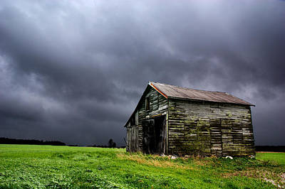 Shed Photograph - Stormy Barn by Cale Best