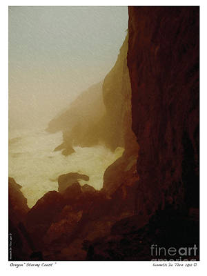 Stormy Coast Art Print by Kenneth De Tore
