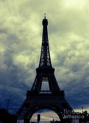 Stormy Day In Paris Art Print by Carol Groenen