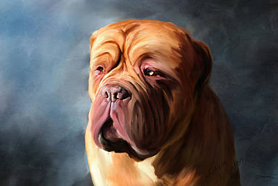 Stormy Dogue Art Print by Michelle Wrighton