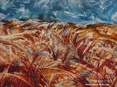 Painting - Stormy Fields by Shelley Jones