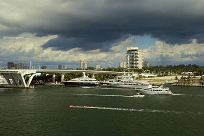 Photograph - Stormy Fort Lauderdale by Gary Wonning