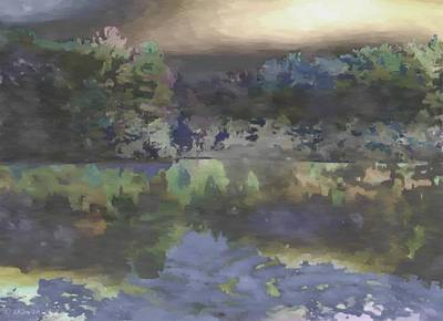 Painting - Stormy Lake by Lynda K Cole-Smith