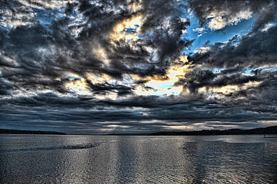 Whidbey Island Wa Photograph - Stormy Morning by Ron Roberts