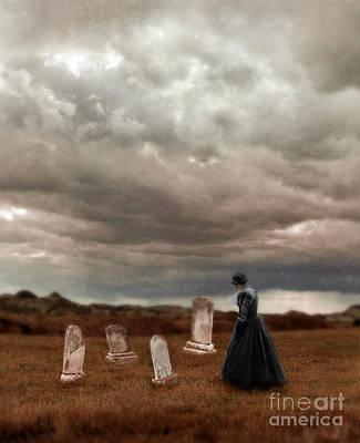 Stormy Mourning  Art Print by Jill Battaglia