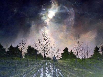 Painting - Stormy Night by Milan Melicharek