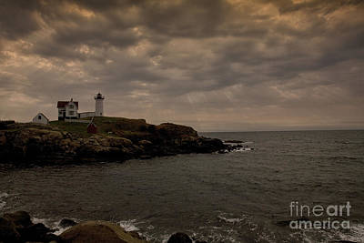 Stormy Nubble Art Print by Timothy Johnson