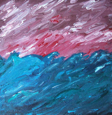Art Print featuring the painting Stormy Sea by Martin Blakeley