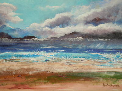 Painting - Stormy Shore by Dan Whittemore