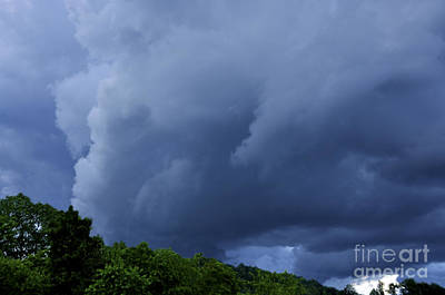 Stormy Summer Sky Print by Thomas R Fletcher