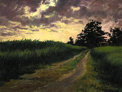 Painting - Stormy Sunset by Sergey Zhiboedov