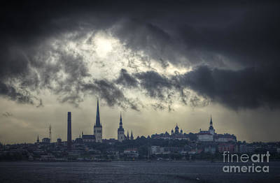 Photograph - Stormy Tallinn. by Clare Bambers