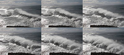 Stormy Wave Sequence Art Print by Cedric Darrigrand