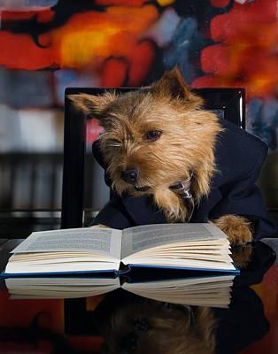 Terrier Digital Art - Story Book Terrier by Susan Stone