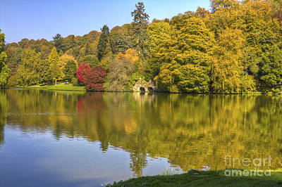 Photograph - Stourhead Reflections by Clare Bambers