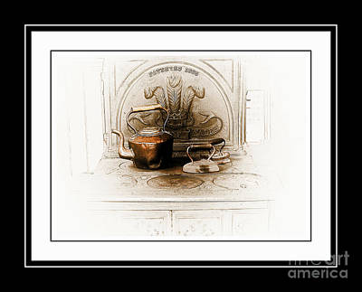 Stove Patent 1885 Art Print by Elaine Manley