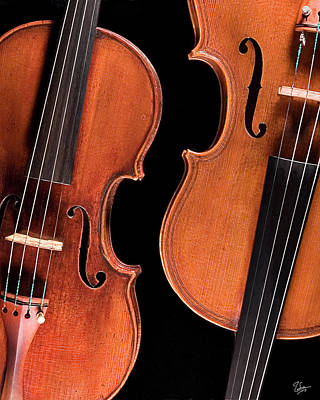 Photograph - Stradivarius Violin And Maggini Viola by Endre Balogh
