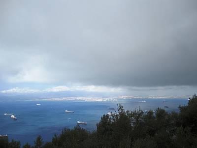 Photograph - Strait Of Gibraltar Bay View Ships IIi Uk by John Shiron
