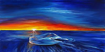 Surrealistic Painting - Stranded by David Junod