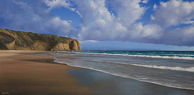 Danae Painting - Strands Beach Dana Point Painting by Cliff Wassmann