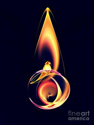 Abstract Design Digital Art - Strange Candle by Klara Acel