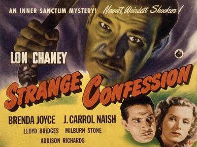 Confession Photograph - Strange Confession, Lon Chaney, Jr., J by Everett