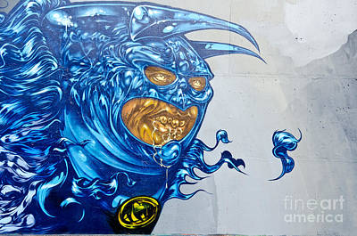Strange Graffiti Creature Art Print