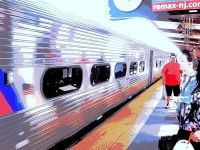 Strangers Almost On A Train Art Print by Don Struke