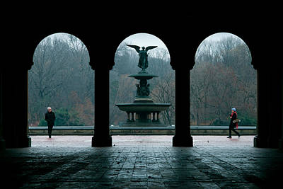 Central Park Photograph - Strangers In A Park by Heidi Reyher