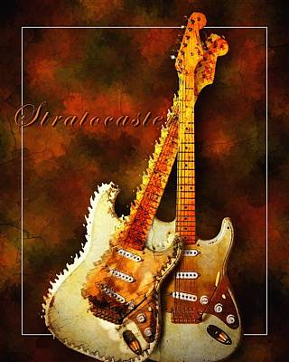 Art Print featuring the mixed media Stratocaster by Robert Smith