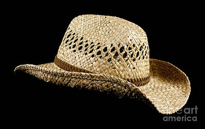 Cowboy Hat Photograph - Straw Hat by Blink Images