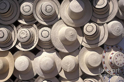 Photograph - Straw Hats Panama by John  Mitchell