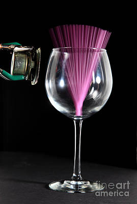 Acoustical Photograph - Straw In A Glass At Resonance by Ted Kinsman