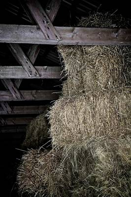 Rustic Barn Interior Photograph - Straw To The Rafters by Odd Jeppesen