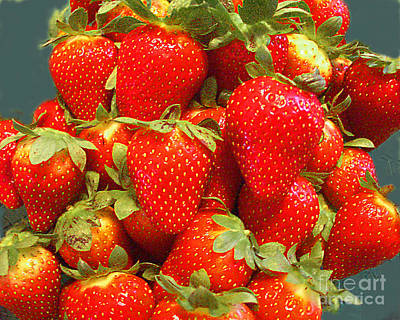Photograph - Strawberries by Merton Allen