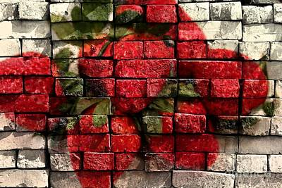 Strawberries Digital Art - Strawberries On Bricks by Barbara Griffin