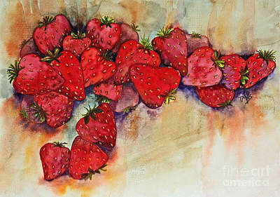 Painting - Strawberries by Terri Mills