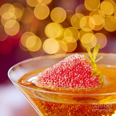 Strawberry And Champagne Print by Kim Fearheiley