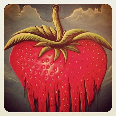 Painting - Strawberry Instagram by David Junod
