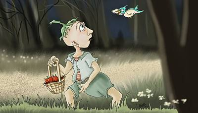 Childrens Books Digital Art - Strawberry Man by Hank Nunes