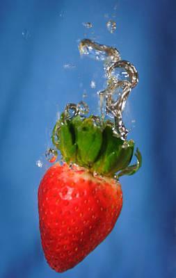 Strawberry Plunge Art Print by John White