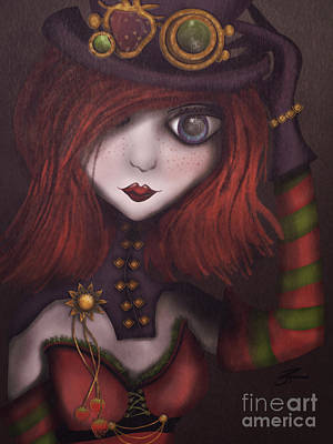 Strawberry Shortcake Steampunk Art Print