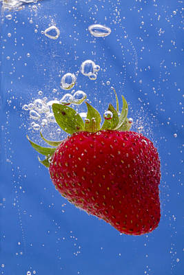 Strawberry Soda Dunk 3 Art Print by John Brueske