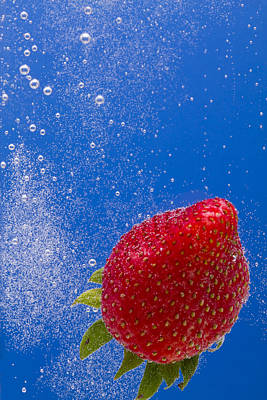 Strawberry Soda Dunk 4 Print by John Brueske